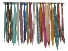 10 PCS Indian Vintage Silk Recycle Sari Sashes Head Wrap Neck Tie Wholesale Lot