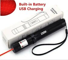 900Miles Red Laser Pointer Pen 650nm Visible Beam Star Cap Astronomy Usb Charger