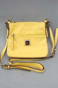 Dooney & Bourke Yellow Leather Crossbody Bag
