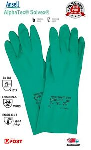 Nitrile Chemical Resistant GLOVES ANSELL AlphaTec Solvex 37-175 Industrial Glove
