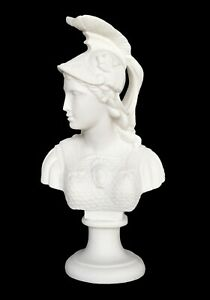 Goddess Athena Alabaster bust - Symbol of Wisdom Strength Strategy - Minerva