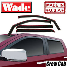 Window visors In-Channel Fits Nissan Frontier Crew Cab 2005 - 2020