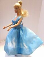 .  Barbie Original doll Golden blonde hair lovely blue dress she has ballet feet