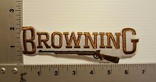 BROWNING GUNS & RIFLES  VINTAGE EMBROIDERED PATCH