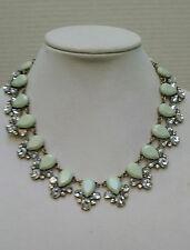 J Crew Mint Floral Necklace