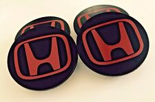 "SET OF 4 FOR TYPE-R BLACK RED WHEEL CENTER CAP EMBLEM 2.75"" 69MM CIVIC ACCORD"