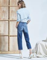 MCGUIRE DENIM Turlington Tapered Leg Relaxed Boyfriend Crop Jeans 23 24 $248 #23
