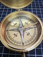 Vintage Large  Brass Marine Compass