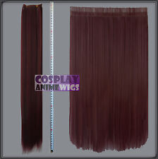 Wine Red Hair Weft Extention (3 pieces) - 60cm High Temp - Cosplay 7_118