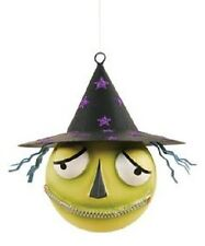 "67930 4"" ZALDEZ Halloween Party Ornament Green Goblin Witch Monster Zipper Mouth"