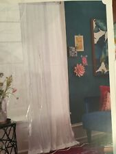 "OpalHouse Sheer Curtain White Crushed 42"" x 84""  Nwop"
