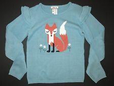 Matilda Jane girls fall Secret Fields Clever fox blue sweater top shirt 14 12 10