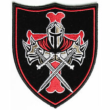 Embroidered Templar Knight Crusader Shield Sew or Iron on Patch Biker Patch