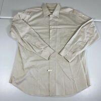 Ermenegildo Zegna Button Up Shirt Sz Large 44/17.5 White Long Sleeve Casual Mens