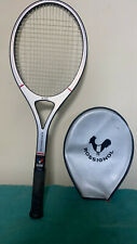 Vintage Rossignol R40 Tennis Racquet #4 Grip Made In France w/ Zip Cover