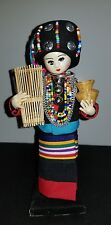 Lot of Asian travel souvenirs--plate with ship,  Thai doll little wooden boats-