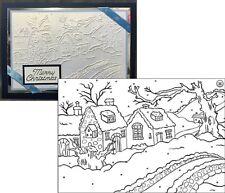 Christmas embossing folders Snowy Cottages Nellie Snellen winter folder PIF003
