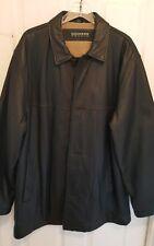 Men's leather trench coat sz large