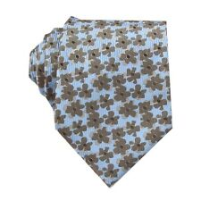 Sky blue Brown Floral 3.4'' Silk Jacquard Classic Woven Man's Tie Necktie FS53