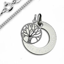 Taufkette, Kinderkette, Gravur Platte und Lebensbaum ,Silber 925- pers. Gravur