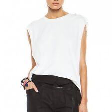 NWT $275 SZ FR 42/US 10 Isabel Marant White TIARA Muscle Tank Top Tee Shirt