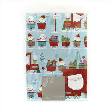 Noël Papier d'emballage pack wrap set 2 x Feuilles Papier Cadeau & 2 x balises