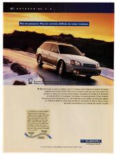 2001 SUBARU Outback H6 Vintage Original Print AD - Gray car photo French Canada