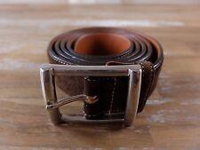 SANTONI brown suede belt authentic - Size 110 (fits size 43 waist best) - NWOT