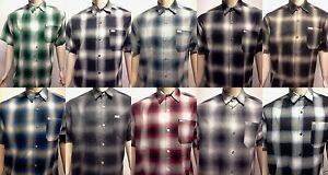 CALTOP OLD SCHOOL FLANNEL VETERANO SHORTSLEEVE SHIRT PLAID SM-5X GANGSTER