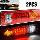 2pcs Anhänger Rückleuchten Anhängerbeleuchtung Rücklicht Leuchte Magnet Licht