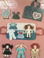 Vintage Fabric Doll Bunny Case Sewing Pattern Hickory Stick Mandee's Paper Dolls