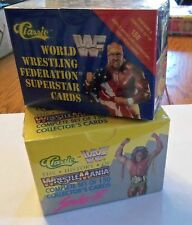 1990 & 1991 CLASSIC WRESTLING SETS -  WWE WWF SEALED  HOGAN  MACHO  UNDERTAKER