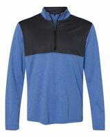 Adidas Lightweight UPF 1/4 Zip Sweatshirt Pullover Athletic Mens Adult Golf A280