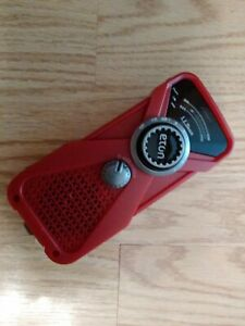 Eton LL Bean Hand Turbine AM/FM Weather Radio FRX1 & LED Flashlight NOAA RED