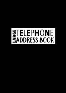 Large Telephone Address Book: Large Print Address Book A4 | A-Z Address Book ,