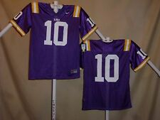 LSU TIGERS  Nike   #10  FOOTBALL JERSEY  Youth Large  NWT  $44 retail  p