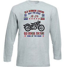 Vintage German Motorcycle BMW R26 1958-NEU Baumwolle T-Shirt