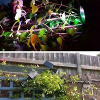 LED Solar Power Spot Lights RGB Color Garden Path Landscape New Wall Lamp B9U2