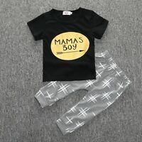 2 PCS SET Newborn Baby Girls boys Shirt top Pants Infant Clothes nutella INS