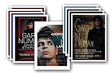 GARY NUMAN - 10 promocional pósters - coleccionable juego de postales # 1