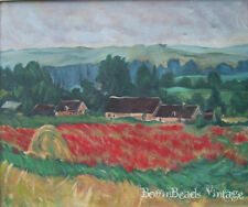 GIVERNY, NORTHERN FRANCE MONET-INSPIRED OIL ON CANVAS PAINTING - POPPY FIELDS