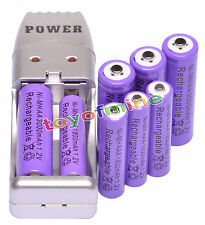Combo 4 AA + 4 AAA Rechargeable Battery + USB Charger