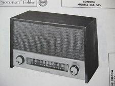 SONORA 568, 585 RADIO PHOTOFACT