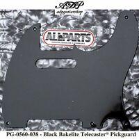 Pickguard For Telecaster US Vintage Bakelite Noir 1 ply 5 holes Black PG0560-038