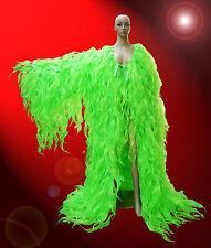 Green Chiffon Tissue Organza cabaret Drag queen Show girl Ruffle Coat