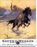 S/W Hostiles Cowboy Horse Tin Advertising Sign vintage western bar decor 1876