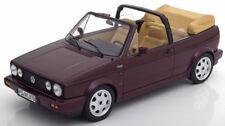 Norev 1992 Volkswagen Golf Convertible Dark Red Metallic in 1/18 Scale in Stock
