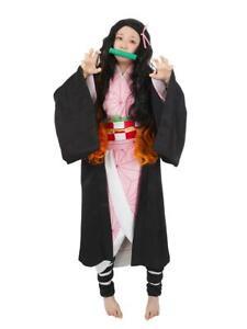 Kimetsu no Yaiba Cosplay Kostüm von Nezuko Kamado mit Kimono   S - L