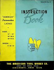 1949 American Pacemaker Lathes Radials Shapers Instruction Manual 17