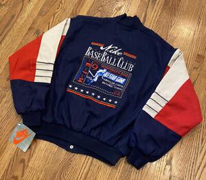 Nike Vintage 90s MLB Baseball All Star Wool Leather Varsity Letterman Jacket NWT